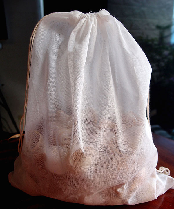 "Cheesecloth Bags with Drawstring 12"" x 14"" - 12 Pack"