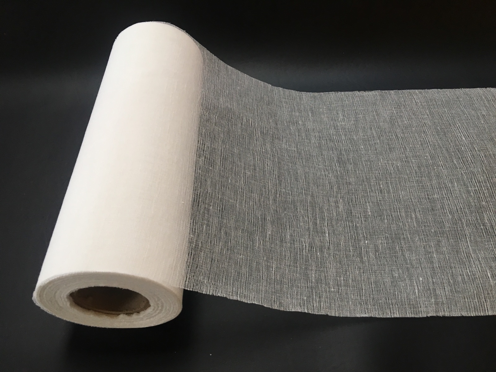 "12"" Cheesecloth Runner Grade 50 Bleached - 100 Yard Roll"