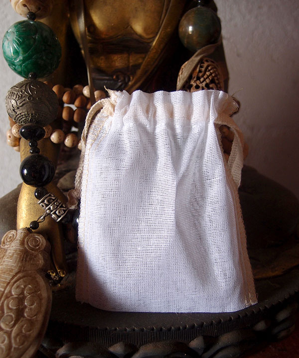 "Cheesecloth Bags with Drawstring 3"" x 4"" (12 Pk) Ivory Edge"