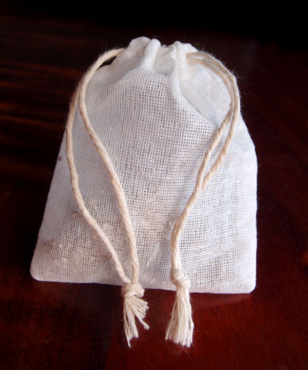 "Cheesecloth Bags with Drawstring 3"" x 4"" - 12 Pack"