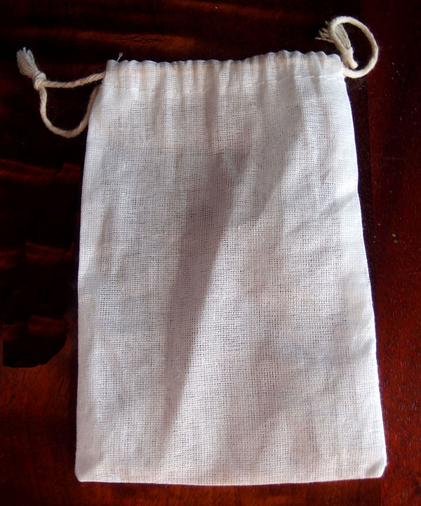 "Cheesecloth Bags with Drawstring 4"" x 6"" - 12 Pack"