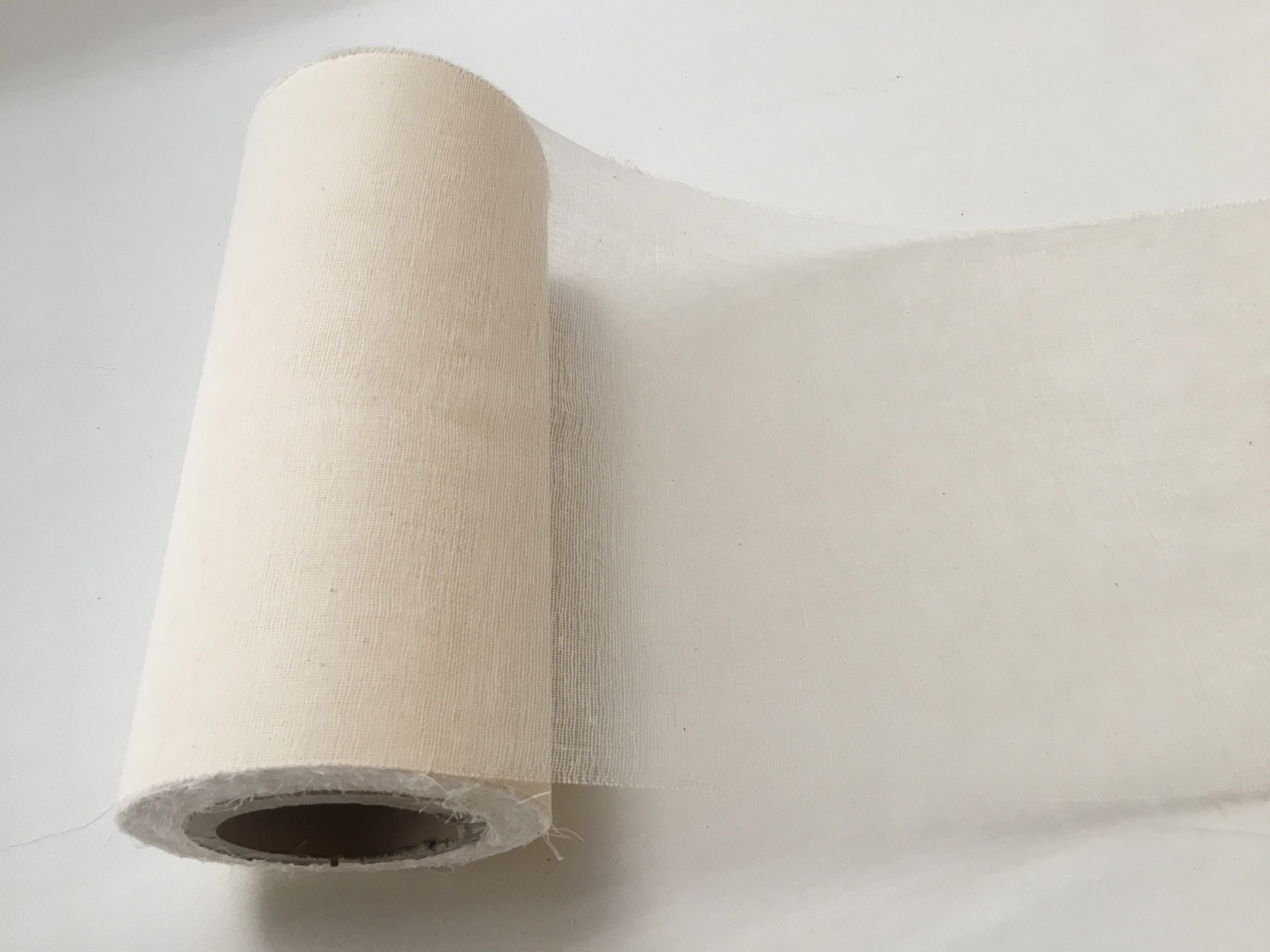 "12"" Cheesecloth Runner Grade 50 Unbleached - 100 Yard Roll"
