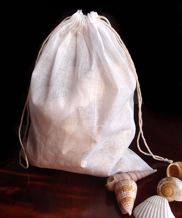 "Cheesecloth Bags with Drawstring 8"" x 10"" - 12 Pack"
