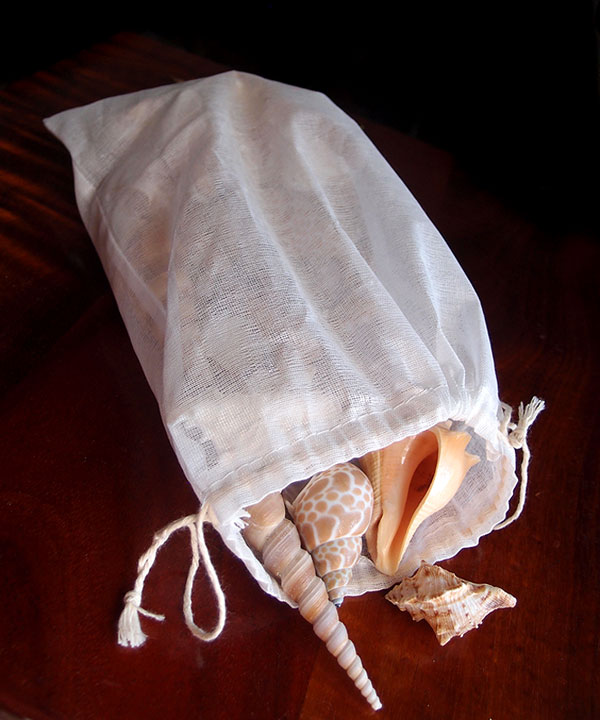 "Cheeseloth Bags with Drawstring 8"" x 12"" - 12 Pack"
