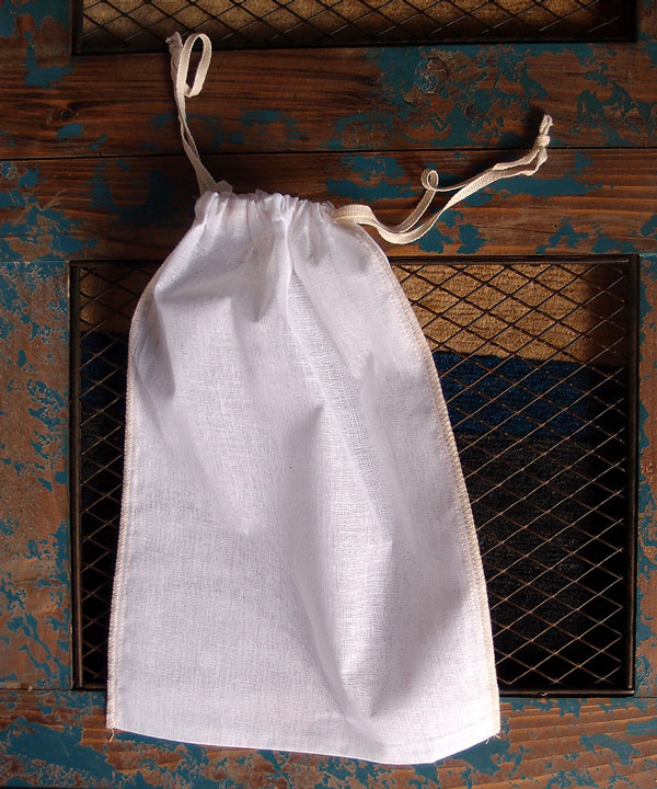 "Cheesecloth Bags with Drawstring 10"" x 12"" (12 Pk) Ivory Edge"