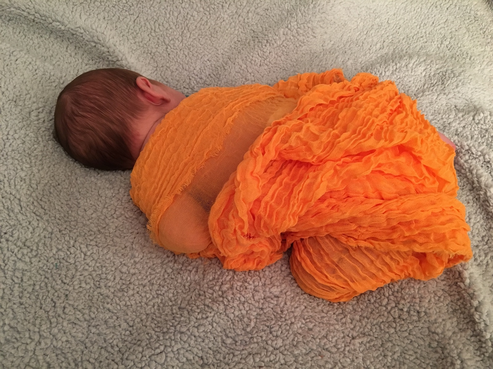 "Blazing Orange Cheesecloth Wrap 36"" x 48"""