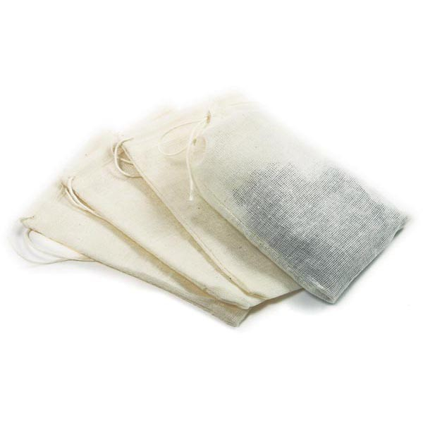 "Cheesecloth Tea Bags (4 Pack) 5"" x 3"""