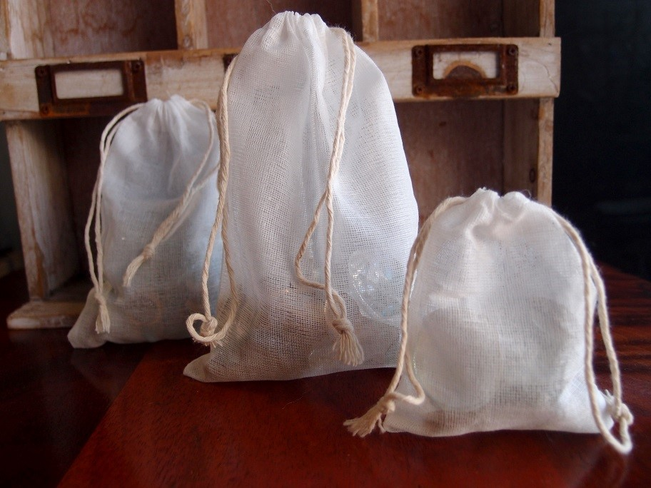 Cheesecloth Drawstring Bags